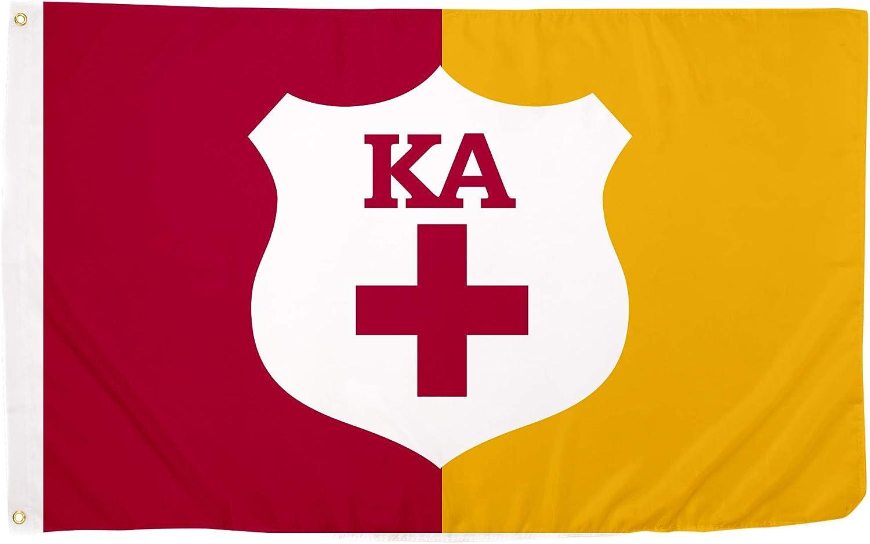 Kappa Alpha Order Secondary Fraternity Flag Greek Letter Banner Large 3 feet x 5 feet Sign Decor KA