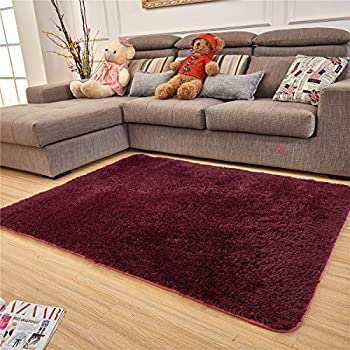 Adasmile Super Comfortable Thin Indoor Modern Shaggy Area Rugs/Floor  Mat/Cover Carpets With