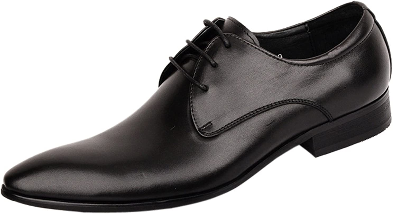 Liveinu Mens Leather White Dress Casual Oxfords Shoes
