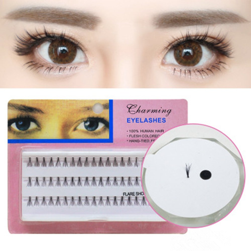9178ce8c415 Buy ELEPHANTBOAT Individual Lashe Black Natural Fake False Eyelash Long  Cluster Extension Makeup Online at Low Prices in India - Amazon.in