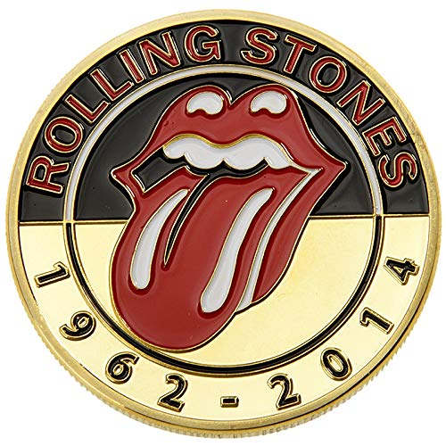nouler Commemorative Coin Beatles Rolling Stones Badge Gift Collection Concert,Gold,One Size ()