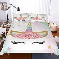 ZHAORLL Funda nórdica Rainbow Unicorn Fairytale con Estrellas