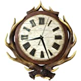 Creative Antlers Home Walls Clocks Living Room Bedroom Decorated Resin Walls Clocks Individuality Silent Clocks Clocks