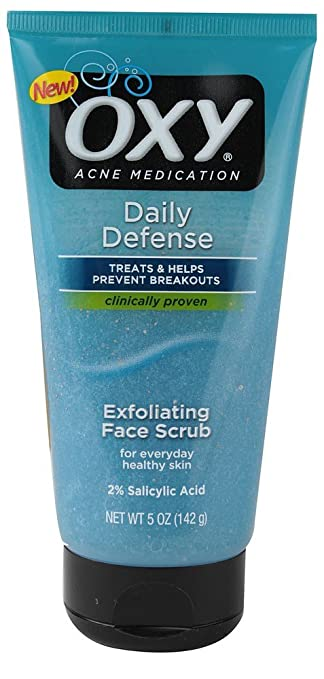 OXY Daily Defense Exfoliating Face Scrub 6 oz (Pack of 2) Gel Beaded Eye Mask - Varied Colors, Relaxing eye mask By April