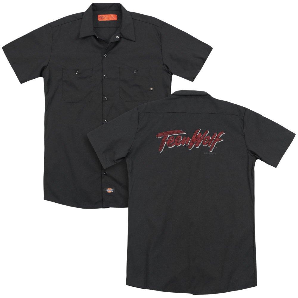Teen Wolf Scrawl Logo Adult Work Shirt