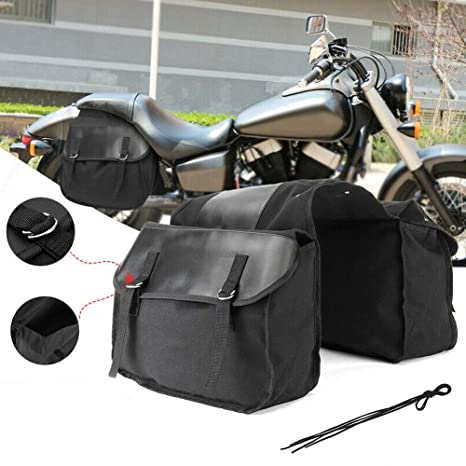 Alivier Moto Lateral Alforjas Cuero Impermeable Asiento ...