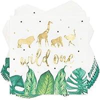 Wild One Safari Birthday Party Paper Napkins (50 Pack)