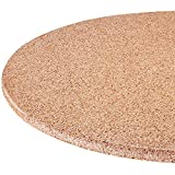 MS HOME Scratch-Free Granite Style Elasticized Vinyl Table Cover - w/Flannel Backing, Indoor and Outdoor use, Easy-to-Clean and Non-Slip Fit (40''-44'' dia. Round, Tan)