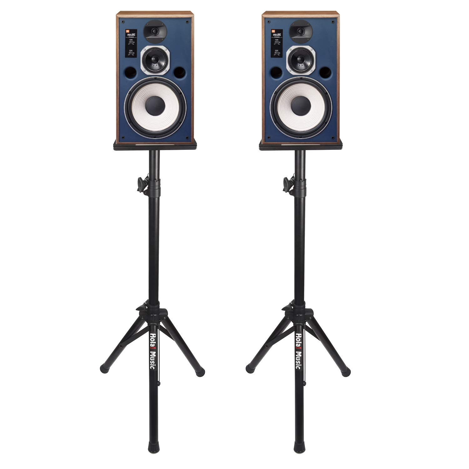 PAIR of Studio Monitor Speaker Stands by Hola! Music, Professional Heavy-Duty Tripod Structure, Adjustable Height, Model HPS-600MS by Hola! Music (Image #2)