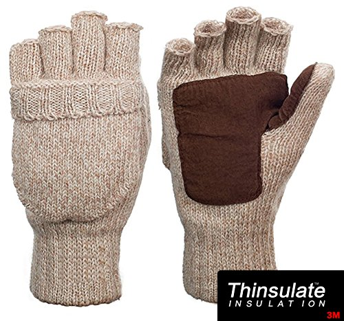 Suede Thinsulate Thermal Insulation Mittens/Gloves Beige