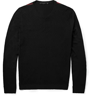 64b86475491 Gucci Fine-Knit Patterned Wool Crew Neck Sweater  Amazon.co.uk  Clothing
