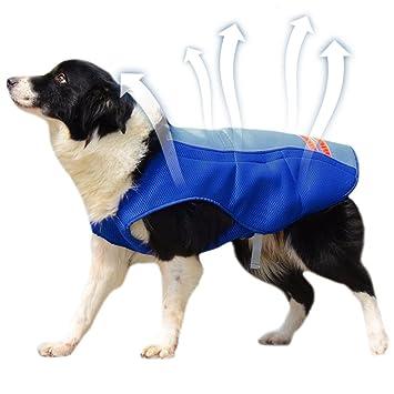 Petacc Chaleco de Refrigeración para Mascotas al Aire Libre Perro Enfriador Arnés Transpirable Capa de Refrigeración