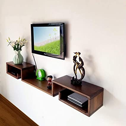 Amazon.com: Solid Wood Wall-Mounted TV Cabinet Bedroom ...