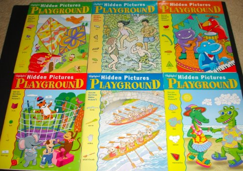 Highlights Hidden Pictures Playground Activity Books, Set of 6. (1) - Highlights Set