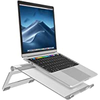 Nulaxy Adjustable Laptop Stand, Laptop Riser, Aluminum Notebook Holder Stand Compatible with Apple MacBook, Air, Pro…