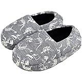 Tirzrro Kids Big Boys Warm Cute Dinosaur Slippers with Soft Memory Foam Indoor Anti-Slip Slippers