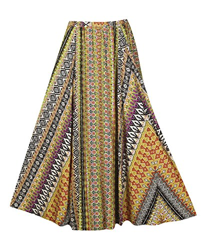 Plus Size Full Sweep Skirt --Size: 2x Color: Multi