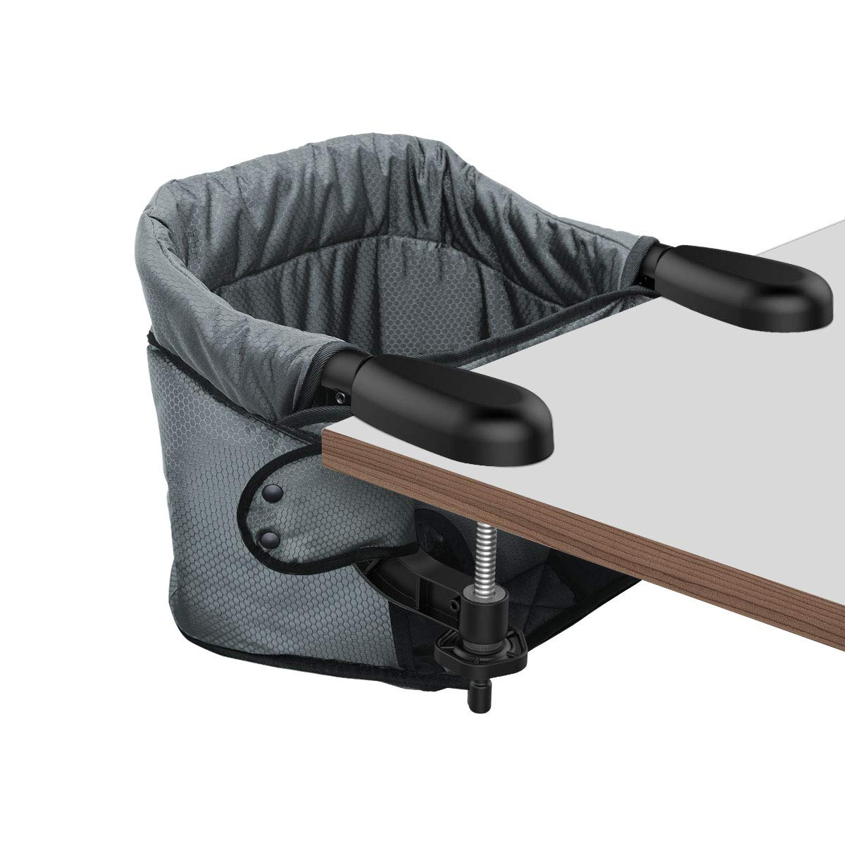 Hook On High Chair, Clip on Table Chair w/Fold-Flat Storage Feeding Seat -Attach to Fast Table Chair for Home and Travel
