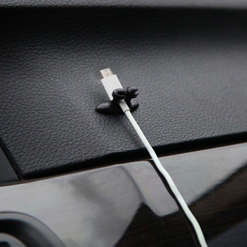 EMVANV Voiture cble Clips 8/Pcs Adh/ésif Chargeur de Voiture Ligne Fermoir Pince Casque USB pour cble de Voiture Organiseur de cble
