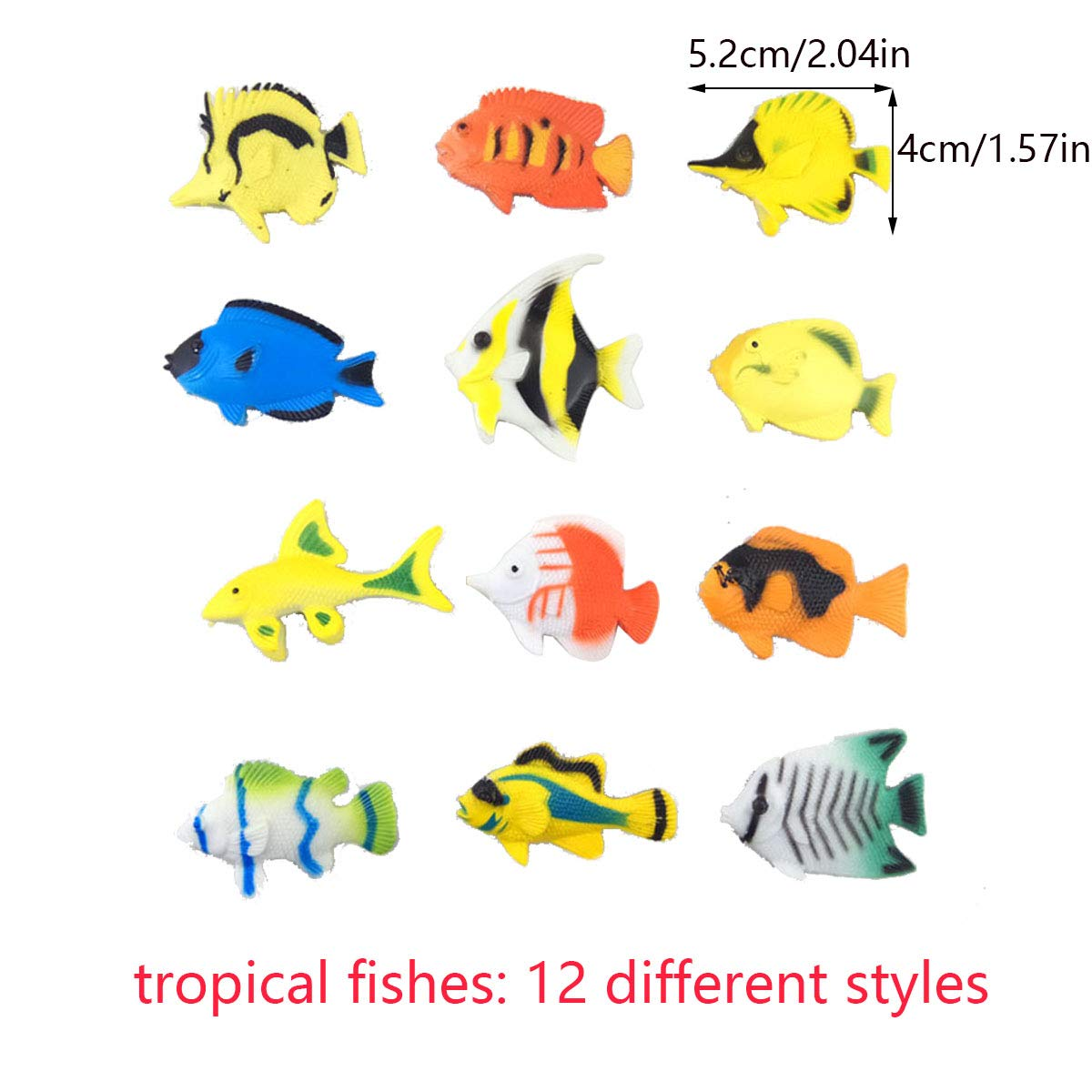Oceano Mare Animali 49Pack Animali Marini Assortiti Animali Figure Pesci Creature Animali Marini 3D Adesivi Timbri per Figura Giocattoli da Bagno Bambini Educativi Bomboniere