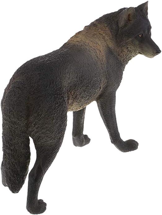 Juguete de Animales de Simulación Modelo de Lobo Realista Juego ...