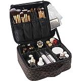 Indoor Ultima Travel Makeup Train Bag, Waterproof Portable Cosmetic Organizer Case with Adjustable Dividers, Professional Art