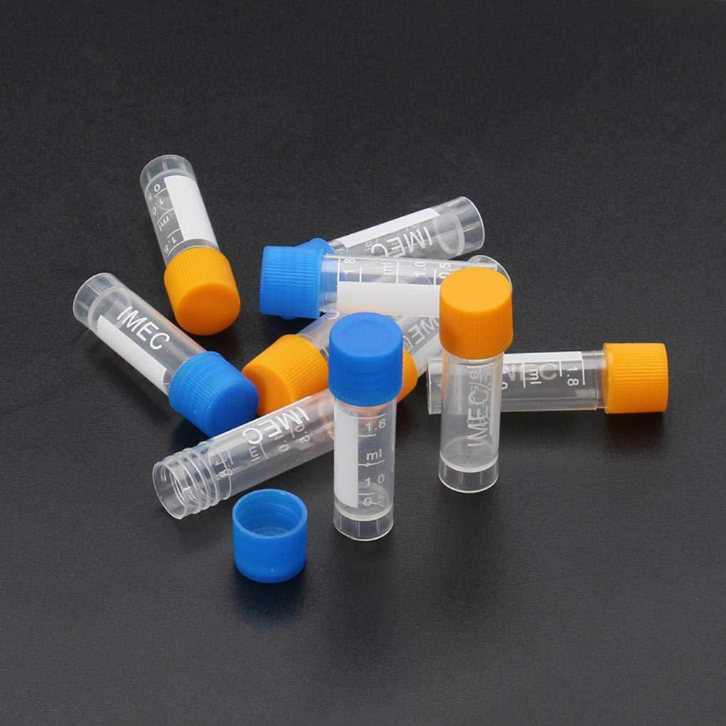 Yongse 10pcs 1.8ml Plastic Graduated Vial 0.063oz Cryovial Tube Sample by Yongse (Image #8)