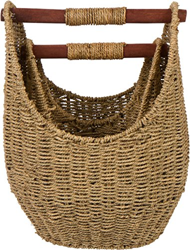 15 7 Seagrass Baskets Wooden Handles
