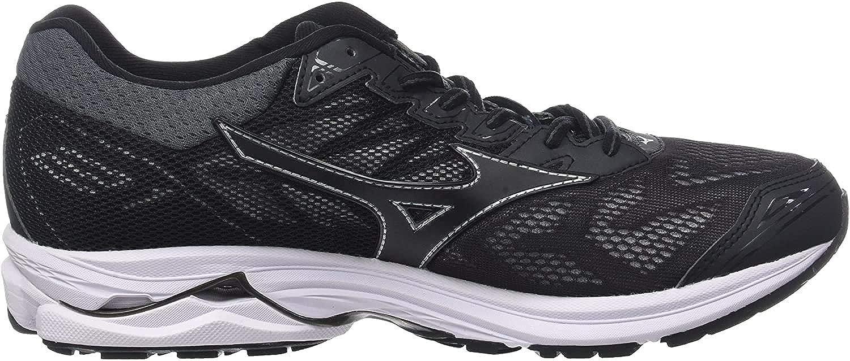 Mizuno Wave Rider 21, Zapatillas de Running para Hombre, Multicolor (Black/Black/Silver 09), 42.5 EU: Amazon.es: Zapatos y complementos