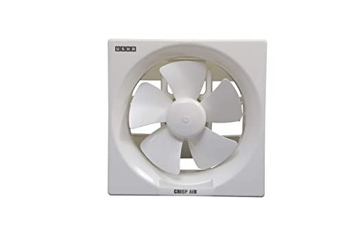 8. Usha Crisp Air 250mm Sweep Size, 345mm Duct Size Exhaust Fan (Pearl White)