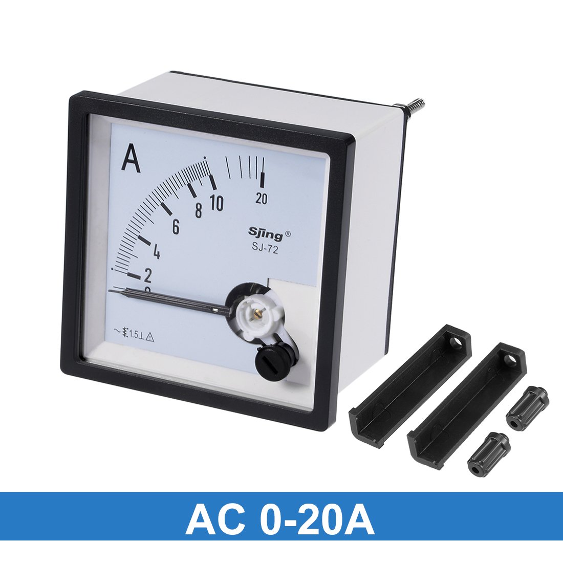 uxcell AC 0-50A Analog Panel Ammeter Gauge Ampere Current Meter SQ-72 1.5 Error Margin