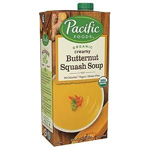 Pacific Foods Organic Creamy Butternut Squash Soup, 32oz, 12-pack