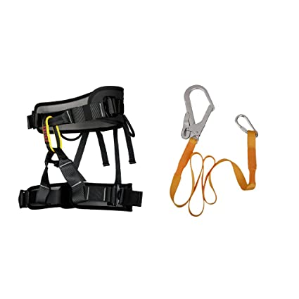 best cheap factory outlet detailed look Buy Prettyia Rock Climbing Sit Harness Belt + Safety Lanyard ...