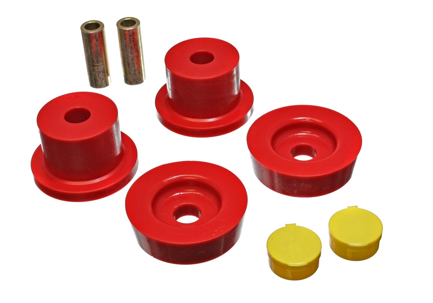Energy Suspension 11.4101R Differential Carrier Bushing Set Red Rear Performance Polyurethane Differential Carrier Bushing Set