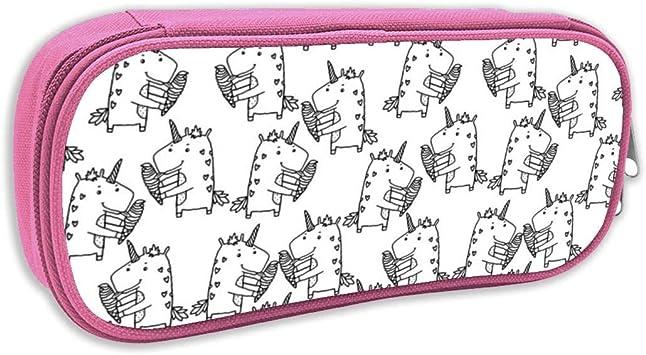 Estuche de lápices Infantil,Patrón de Helado Unicorn BW_4754, Rosado: Amazon.es: Juguetes y juegos