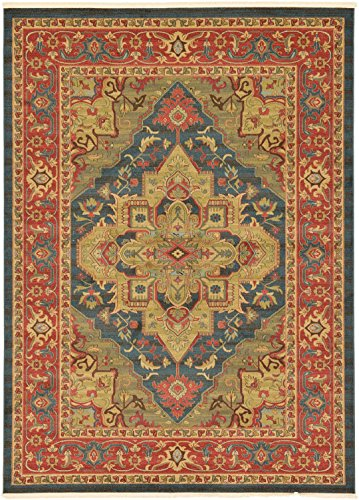 Beautiful Traditional Serapi Cllection Design, Navy Blue 8' 2'' x 11' 6'' FT Area Rug - Home Décor Foor Carpet Living Dinning Room and Bedroom Rugs, Warm Up Your Home Décor