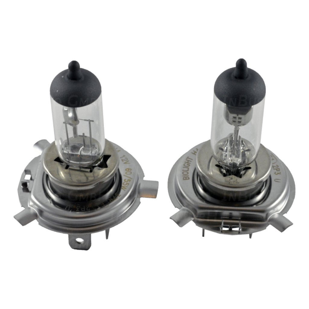 10x H4 60//55W 12V 60W//55W Sockel 43t Halogenlampen Gl/ühlampen Gl/ühbirnen Autolampen clear wei/ß 2