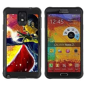 Hybrid Anti-Shock Defend Case for Samsung Galaxy Note 3 / Man With Cape wangjiang maoyi