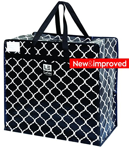 Sac Organizer - Le Sac Large Heavy Duty Zippered Organizer Storage Tote Bag. Holiday Decor Storage Bag, College Carrying Bag, Large Trunk Organizer, Oversized Storage Bag, Laundry Bag, Camping Bag