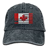 BEMYSELF Unisex Adult CANADA AMERICA FLAG Washed Denim Cotton Sport Outdoor Baseball Cap Trucker Hat Adjustable One Size Navy
