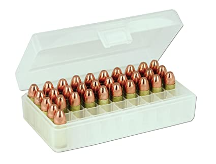 BERRY'S Plastic Ammo Box, Clear 50 Round 9MM / 380
