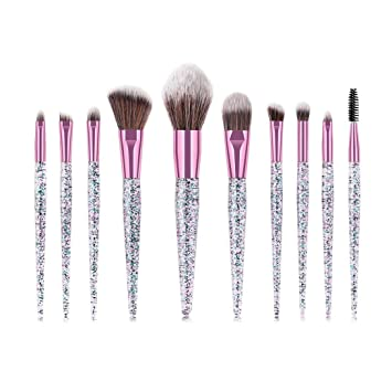 82a076aa8e0d Amazon.com: Premium Glitter Foundation Brush Kit Huphoon Rubber ...