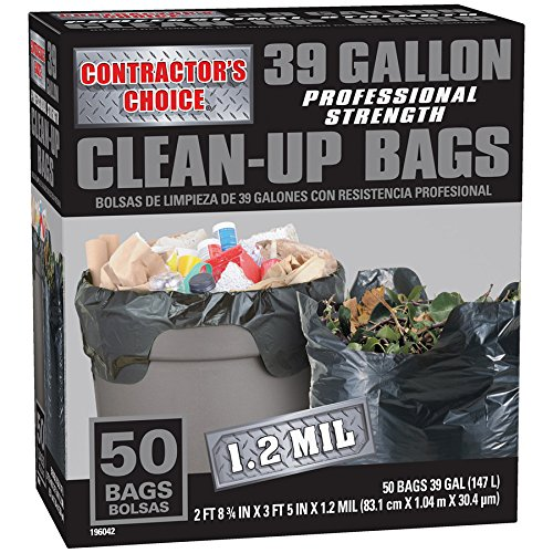 Contractor's Choice 50-Count 39-Gallon Outdoor Construction Trash Bags Contractor' s Choice LW39WC050B
