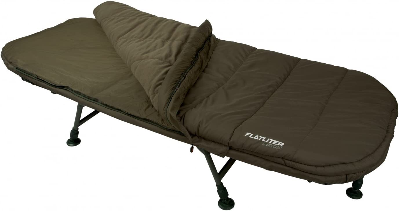 Fox flat litros MKII sistema estándar promafit + saco de dormir tumbona + Sleeping Bag Bed chair: Amazon.es: Deportes y aire libre