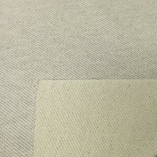 USA Made Premium Quality 100% Organic Cotton Pique Fabric (Wholesale Price by the bolt) - Natural - 10 Yards
