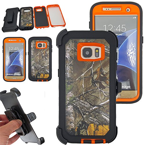 Shockproof Armor Case for Samsung Galaxy S7 Edge (Orange) - 3