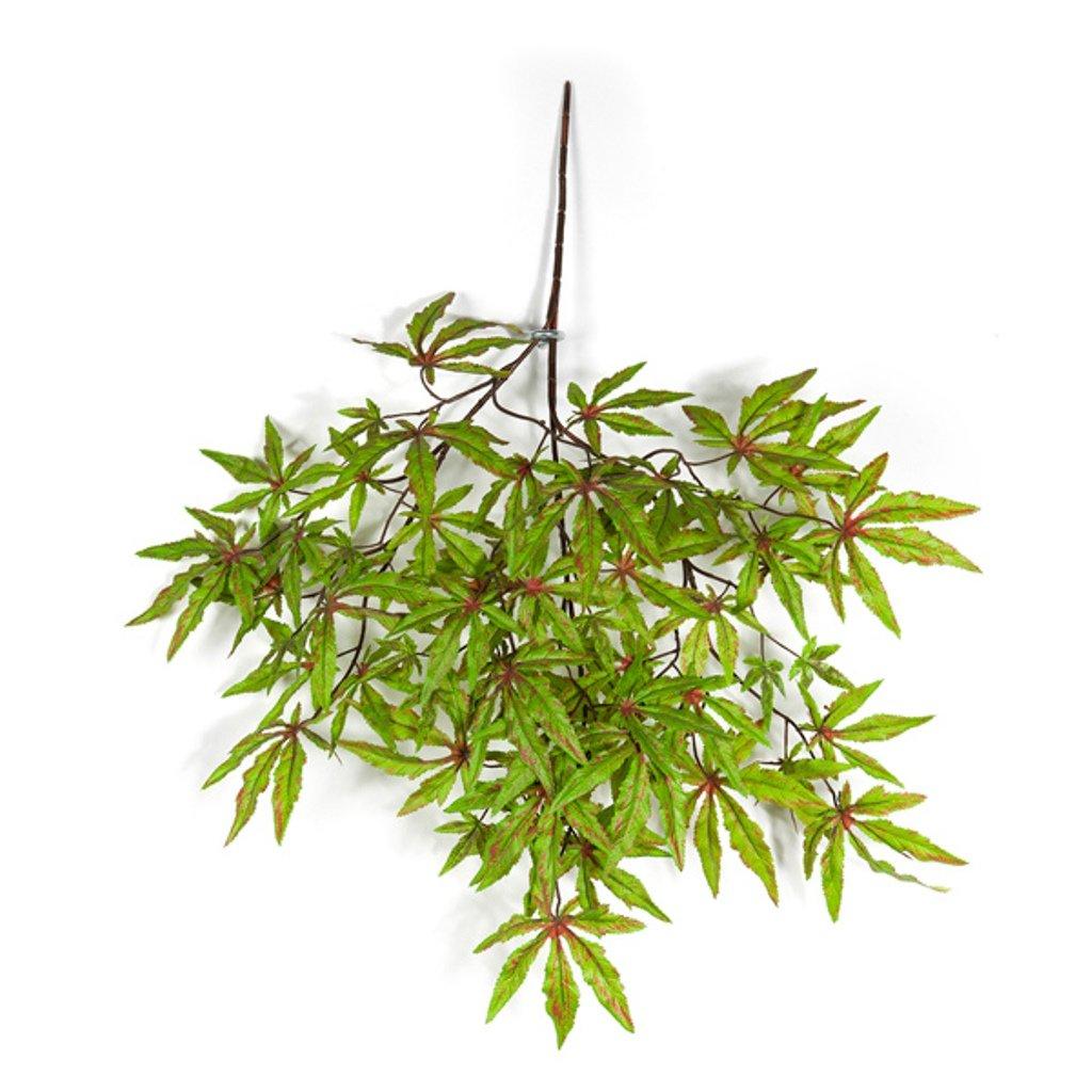 artplants Ramo di acero giapponese artificiale, verde-rosso, 60 cm - Acero decorativo/Decorazione pensile