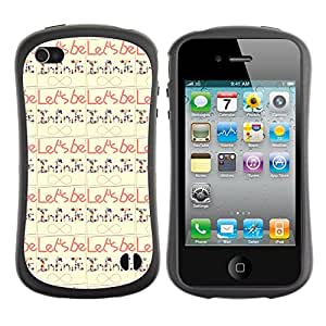 ArtSpace Premium Hybrid Back Case Cover Apple iPhone 4 / 4S ( Infinite Typo )