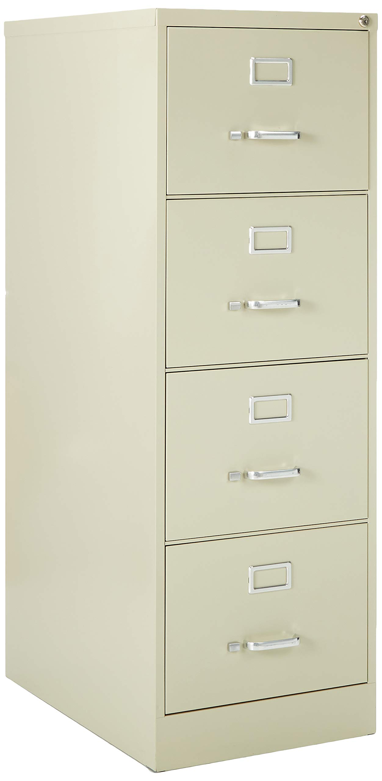 Lorell 4-Drawer Vertical File, 18 by 26-1/2 by 52-Inch, Putty