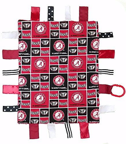 (Future Tailgater Alabama Crimson Tide Baby Sensory Tag Lovey Blanket)